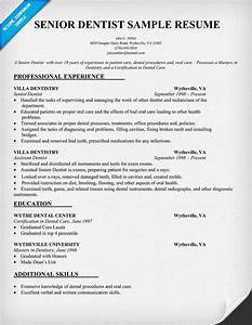 Professional Job Application Template Senior Dentist Resume Sample Dentist Health