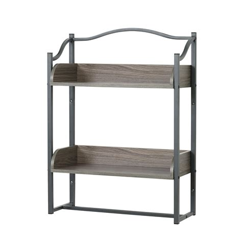 zenna home gy  tier metal bathroom wall shelf