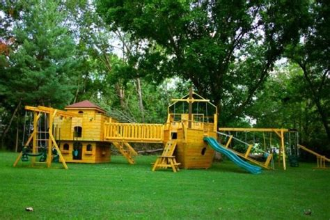 Outdoor Pirate Ship Playset Glick's Woodworking  For The