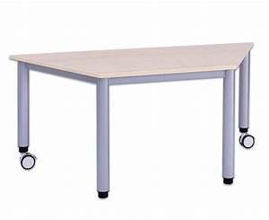 Tisch Rollen Klappbar : flexmax tisch h henverstellbar 160 80 80 trapezf rmig mit 2 rollen ~ Markanthonyermac.com Haus und Dekorationen