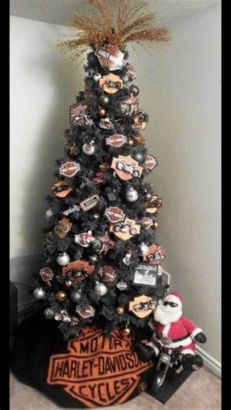 gorgeous harley davidson themed christmas trees biker