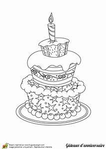 Dessin Gateau D Anniversaire : dessin colorier g teau d anniversaire de r ve ~ Louise-bijoux.com Idées de Décoration