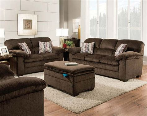 Chocolate Brown Sofa And Loveseat by Brown Plush Set Plato Chocolate Sofa And Loveseat