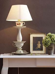 Lampen Selber Basteln Anleitung : diy lampe aus alten kaffeetassen basteln ~ Markanthonyermac.com Haus und Dekorationen