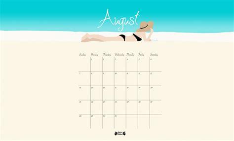 chill    beach printable calendar papier bonbon