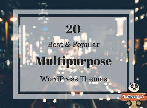 20 Best Popular Multipurpose Wordpress Templates 2017