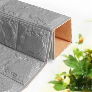 New 3D Foam Stone Brick Self