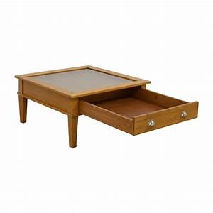 80 off wooden shadow box square coffee table tables With used square coffee table