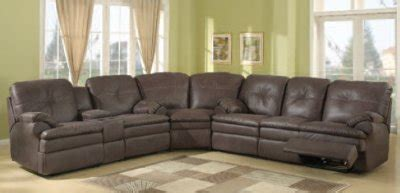 brown upgraded fabric modern reclining sectional sofa