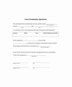 lease termination template 5 free word pdf documents With template for termination of lease