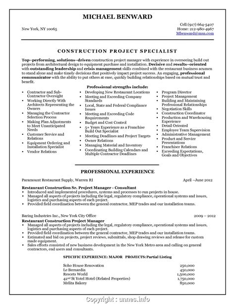 Senior Project Manager Resume Summary by Executive Senior Project Manager Resume Summary