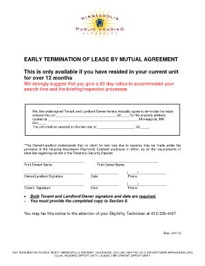 mutual termination  lease fill  printable