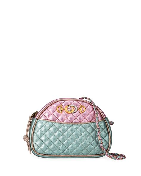 gucci trapuntata mini quilted metallic leather crossbody bag neiman marcus