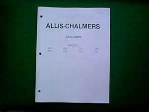 Allis Chalmers 616 Thru 919 Tractor Service Manual