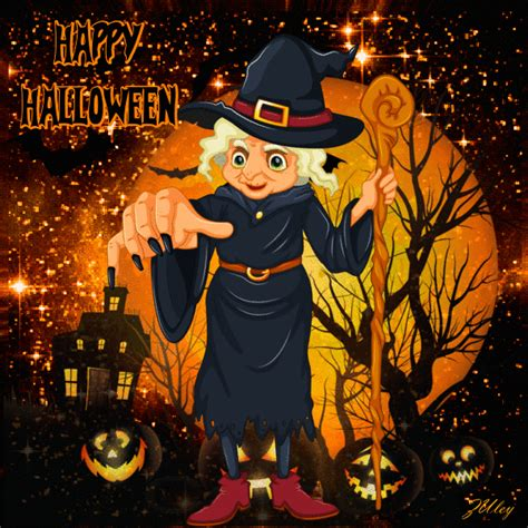 happy halloween gif quote   creepy witch pictures