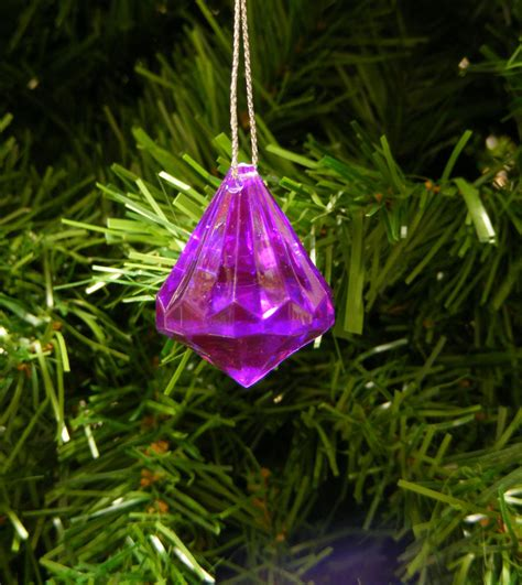 clear purple acrylic diamond shaped faceted christmas tree