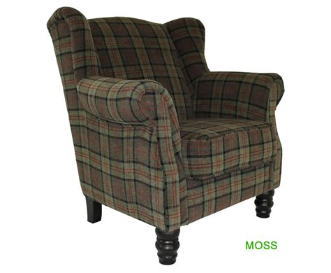 William Tartan Fireside Armchair- Uk Delivery