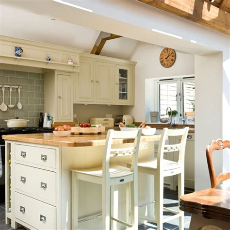 Cream Openplan Kitchen With Large Island  Openplan