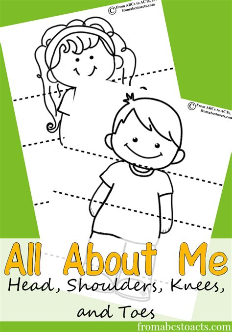 all about me preschool theme from abcs to acts 150 | All About Me Head Shoulders Knees and Toes Activity