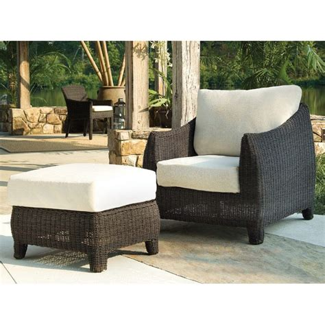 outdoor bay harbor wicker lounge chair fabric cushion