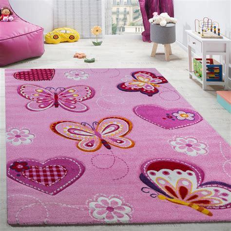 tappeto bambini tappeto per cameretta con farfalla rosa tapetto24
