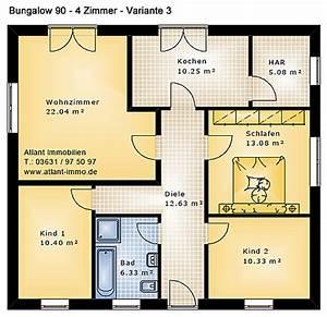 Bungalow Grundrisse 4 Zimmer : bungalow 90 4 zimmer variante 3 einfamilienhaus neubau massivbau stein auf stein ~ Eleganceandgraceweddings.com Haus und Dekorationen