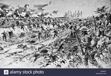 siege montauban contemporary ww1 illustration of troops capturing