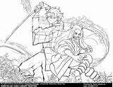Coloring Demon Slayer Kimetsu Yaiba Painting Lineart Digital Zenitsu Boar Teacher Artstation Wong Sakura Popular Coloringhome Credits sketch template