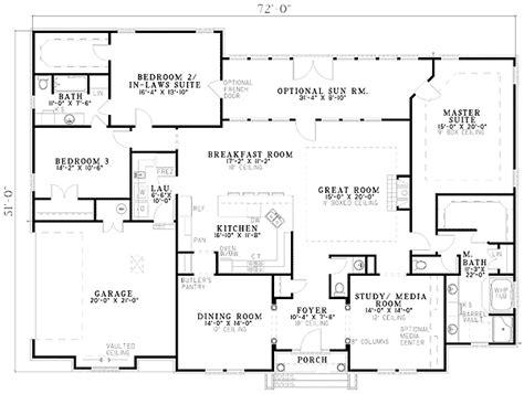 plan   bed brick home plan  master suites modular home floor plans home design