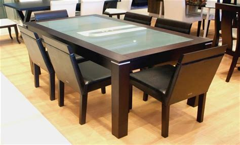 modular kitchen interiors index dining table set designs at home design