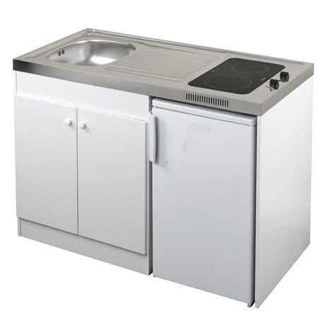 cuisine kitchenette kitchenette vitrocéramique blanc h 92 5 x l 120 x p