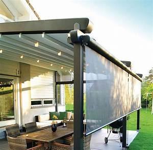 pergola adossee en aluminium couverture coulissante en With rideau exterieur pour pergola 5 pergola retractable