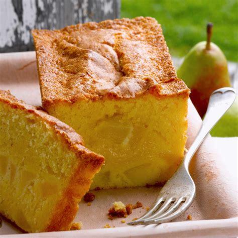 cake moelleux aux poires facile et pas cher recette sur cuisine actuelle
