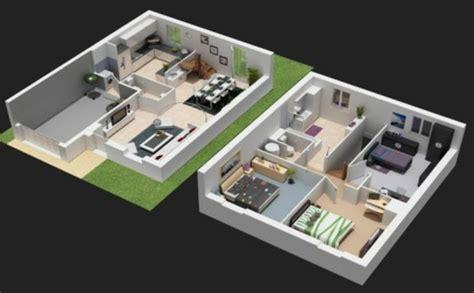 plan de chambre 3d plan maison 3d d 39 appartement 2 pièces en 60 exemples