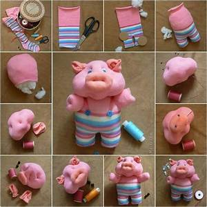 DIY Craft Project: Piglet Toy Using A Pair Of Socks - Find
