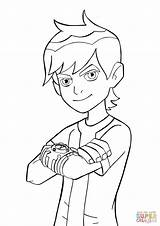 Ben Omnitrix Coloring Pages sketch template