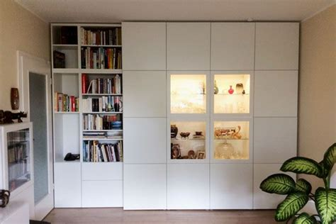 Ikea Schrank Wand ikea hack besta und stuva zusammen kombiniert