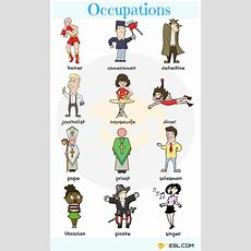 List Of Jobs And Occupations  Types Of Jobs With Pictures  7 E S L