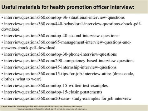 Health Questions And Answers by Top 10 Health Promotion Officer Questions And