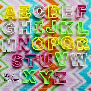 26 piece alphabet letter cake decorating set fondant With alphabet letters for cake decorating
