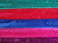 Glitter Stretch Velvet Fabric