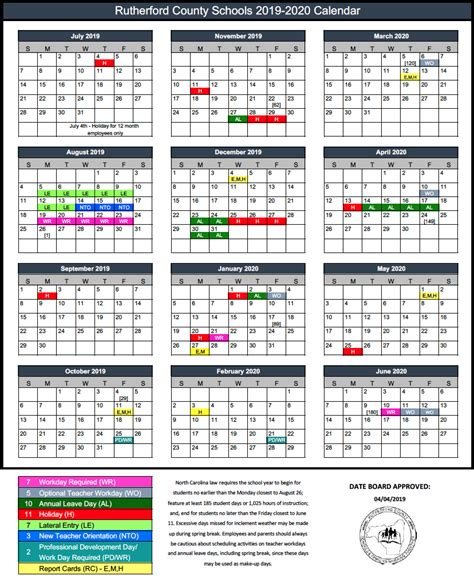 rcs calendar rutherford county schools