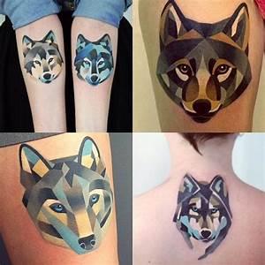 Tatouage Loup Graphique : geometrische tattoos bilder 40 fantastische varianten ~ Mglfilm.com Idées de Décoration