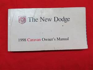 1998 Dodge Caravan Owners Manual Guide Book