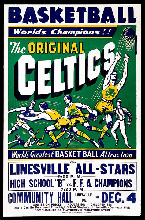 original celtics vintage poster painting by farr