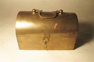 Vintage Lunch Box 1930's India Brass RARE Antique