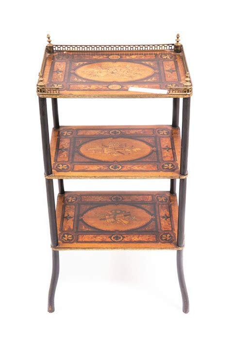Antique Etagere by 19th Century Inlaid Etagere