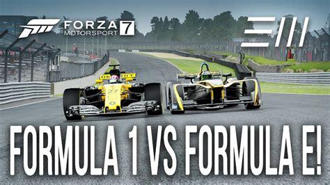 formula 3 vs formula 1 forza 7 2017 formula 1 f1 vs formula e challenge