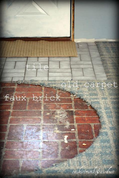faux brick flooring cookie crumbs sawdust faux brick flooring