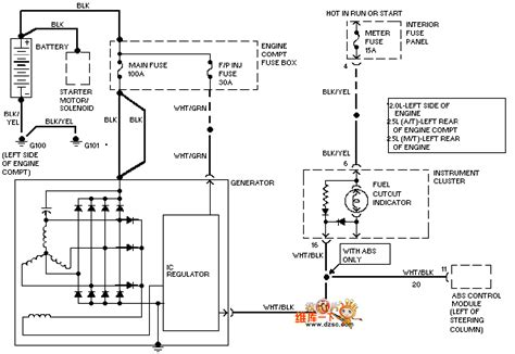 Automotive Charging System Wiring Diagram by The Mazda 95probe Charging System Circuit Automotive